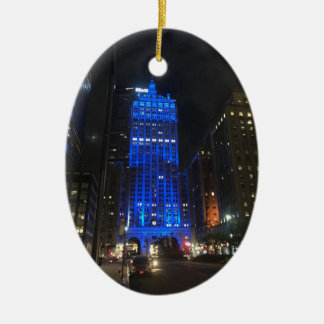 New York Central Building NYC Park Avenue Night Christmas Ornament