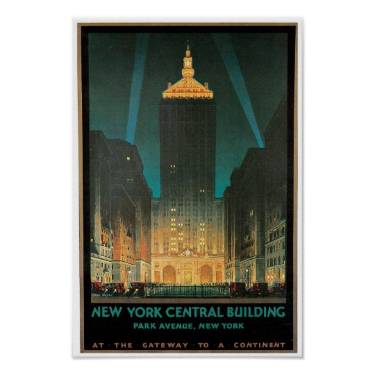 New York Central Building Poster