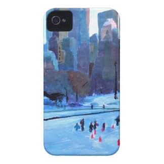 New York Central Park Ice And Winter In Manhattan iPhone 4 Cases