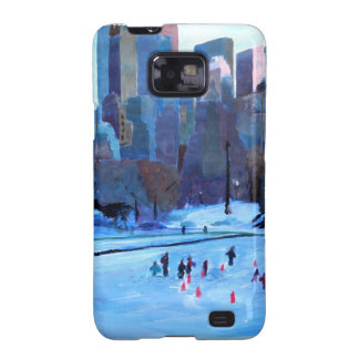 New York Central Park Ice And Winter In Manhattan Galaxy S2 Cover