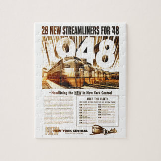New York Central Streamliners 1948 Puzzle
