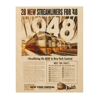 New York Central Streamliners 1948 Wood Canvas