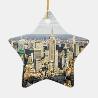 New York Ceramic Star Decoration