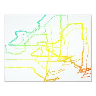 new york chill blur 11 cm x 14 cm invitation card