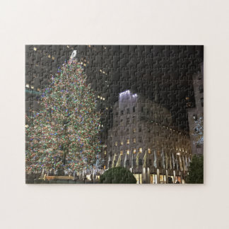 New York Christmas NYC Rockefeller Center Tree Jigsaw Puzzle