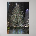 New York Christmas NYC Rockefeller Centre Tree Poster