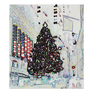 New York Christmas Poster