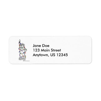 New York Christmas Return Address Labels