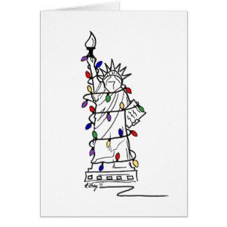 New York Christmas V Greeting Card