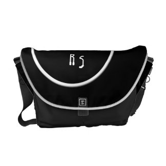 New York Circle chic monogrammed Courier Bag