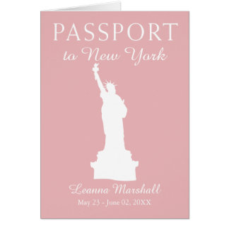 New York City 21ST Birthday Passport Card