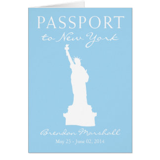 New York City 21st Birthday Passport Note Card