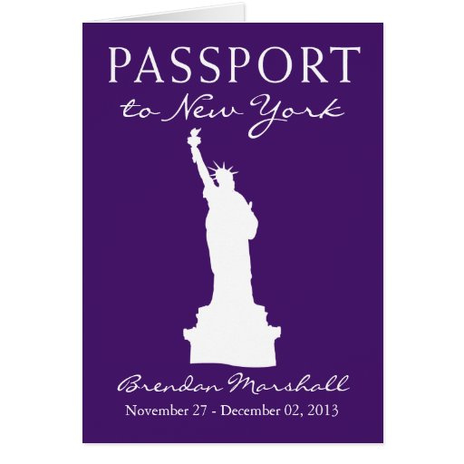 New York City 50th Birthday Passport Greeting Cards