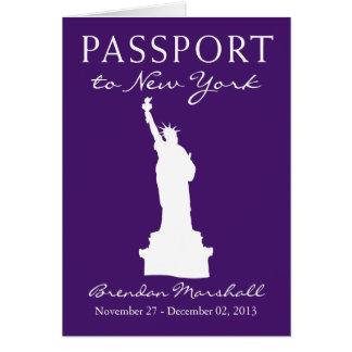 New York City 50th Birthday Passport Note Card
