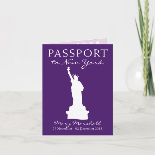 New York City 60th Birthday Passport Holiday Card