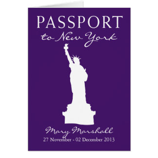 New York City 60th Birthday Passport Note Card