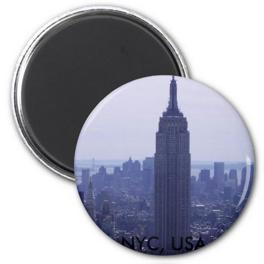 New York City 6 Cm Round Magnet