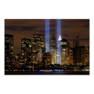 """New York City"" 911 Tribute with Lights Poster"
