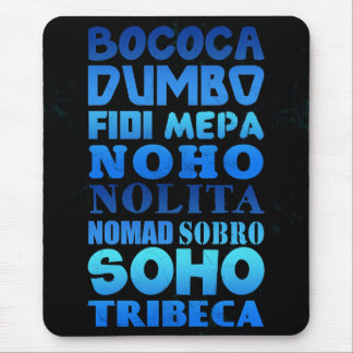 New York City Acronyms Mouse Pad
