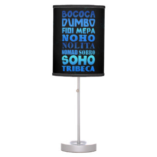 New York City Acronyms Table Lamps
