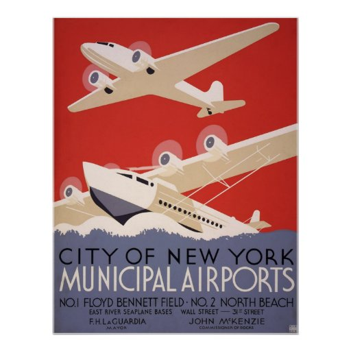 New York City airports Posters