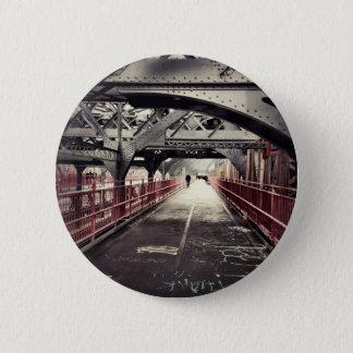 New York City Architecture - Williamsburg Bridge 6 Cm Round Badge