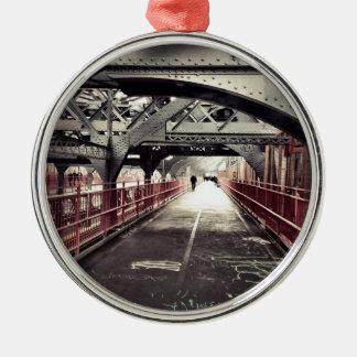 New York City Architecture - Williamsburg Bridge Christmas Ornament