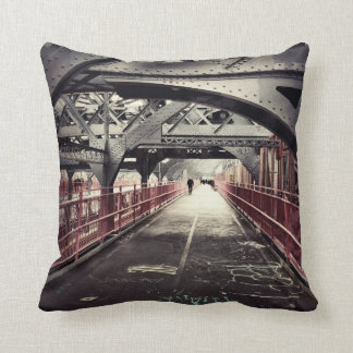 New York City Architecture - Williamsburg Bridge Cushion