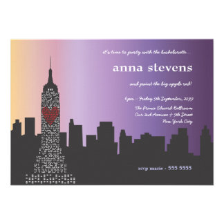 New York City at Night Bachelorette Party Invite