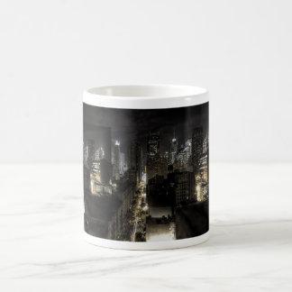 New York City at Night Basic White Mug