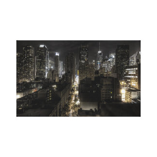 New York City at Night Canvas Prints