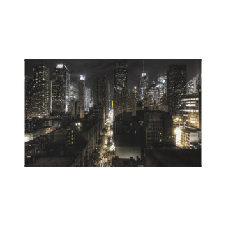 New York City at Night Gallery Wrapped Canvas
