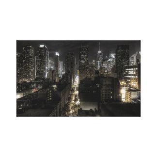 New York City at Night Canvas Prints