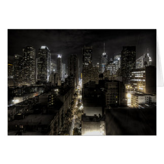 New York City at Night Stationery Note Card
