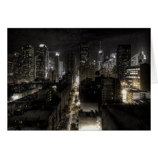 New York City at Night Note Card