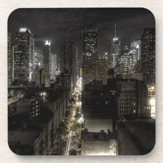 New York City at Night Drink Coasters