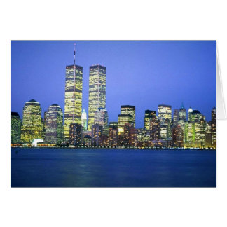 New York City at Night Greeting Cards
