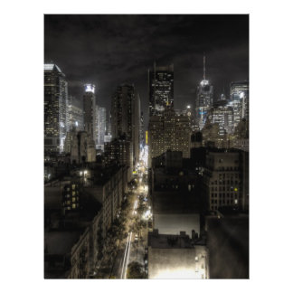 New York City at Night HDR Flyer