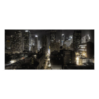 New York City at Night HDR Rack Card