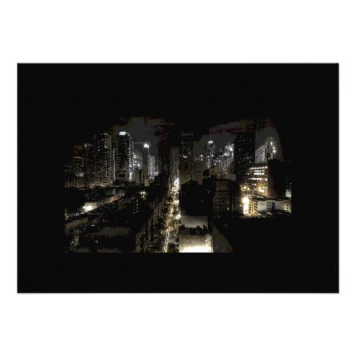 New York City at Night Invitation