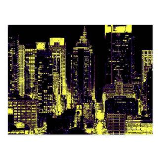 New York City at Night Post Cards