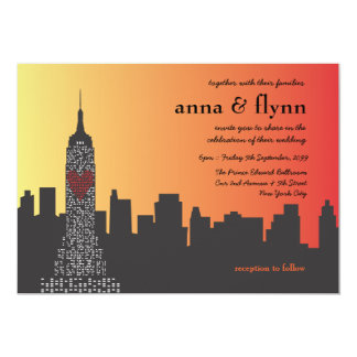 New York City at Night Wedding Invitation