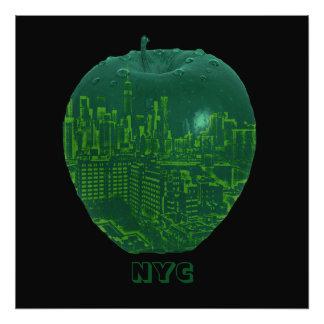New York City big apple blend image Photograph
