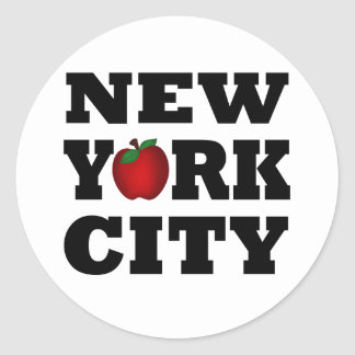 New York City  (Big Apple) Classic Round Sticker
