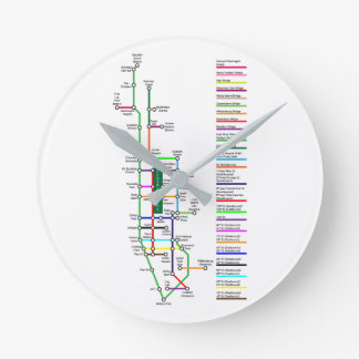 New York City Bike Map Wall Clock