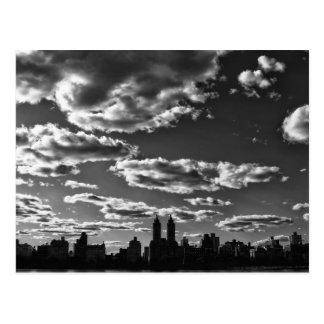 New York City Black and White Landscape Postcard