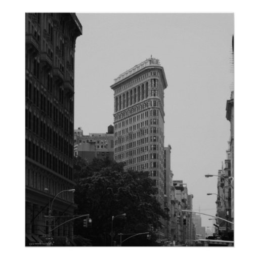New York City black and white photography poster