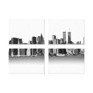 New york city black & White Canvas Prints
