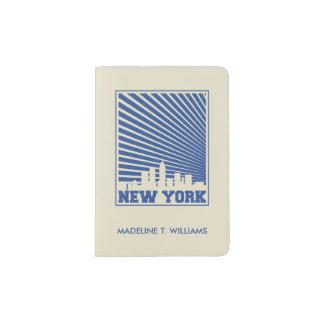 New York City Blue Passport Holder