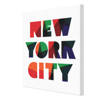 New York City | Bold Typography Canvas Print